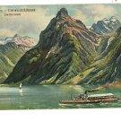 GITSCHEN VIERWALDSTATTERSEE SWITZERLAND BOAT POSTCARD
