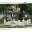 LAKE WOOD MICHIGAN MINERAL WELL  & RESIDENCE POSTCARD