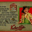 TUCK VALENTINE POTS AND PANS BOY NICKELS DIMES POSTCARD
