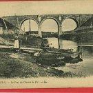 WIMEREUX  FRANCE CHEMIN  BOATS WOMAN BRIDGE  POSTCARD