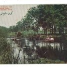 GRAND RAPIDS MI MICHIGAN CANAL FISK REEDS LAKE POSTCARD