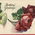 C KLEIN BIRTHDAY ROSES ARTIST SIGNED 1922  POSTCARD