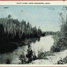 FRANKFORT MICHIGAN PLATT RIVER 1938 POSTCARD