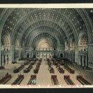 WASHINGTON DC UNION STATION INTERIOR 1916  POSTCARD