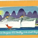 SS MARIPOSA SS MONTEREY SOUTH PACIFIC 1961 POSTCARD