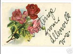 ALLENVILLE WISCONSIN GREETINGS FROM 1908 POSTCARD.