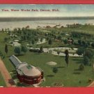 DETROIT MI MICHIGAN WATER WORKS PARK BIRDS EYE POSTCARD