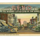 RENO NEVADA NV VIRGINIA STREET CLUB CARS 1934 POSTCARD