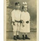 RPPC CUTE CLOTHES BOY AND GIRL   RP POSTCARD
