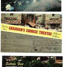 HOLLYWOOD & SACRAMENTO CALIFORNIA SUTTER'S 3  POSTCARDS
