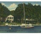 Chautauqua NY Women's Club Sailboat 1957 Postcard