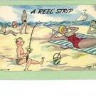 TONY ROY COMIC REEL STRIP RISQUE BEACH POSTCARD