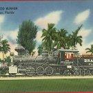 BRADENTON  FLORIDA WOODBURNER TRAIN ENGINE RR  POSTCARD