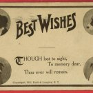 DOGS DOG BEST WISHES LOST TO SIGHT 1911 ROTH   POSTCARD