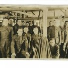 RPPC US ARMY NAVY MEN IN BUILDING BARRACKS  IN UNIFORM