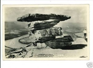 CHATTANOOGA TENNESSEE TN UMBRELLA ROCK LOOKOUT MTN RPPC