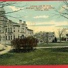 LANSING MICHIGAN LIBRARY MUSEUM MAC COLLEGE  POSTCARD