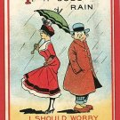 COUPLE UMBRELLA PARASOL IF IT DOES RAIN  POSTCARD
