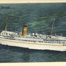 SS FLORIDA P & O STEAMSHIP CO MIAMI STEAMER POSTCARD