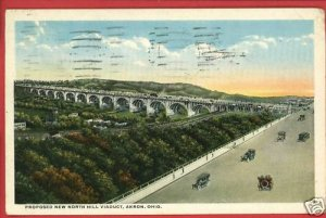 AKRON OH OHIO PROPROSED NORTH HILL VIADUCT  POSTCARD