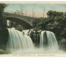 ELYRIA OH HAND COLORED 1910 POSTCARD  WEST FALLS - BINS