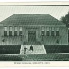 BELLEVUE OHIO OH PUBLIC LIBRARY BOYS BICYCLE  POSTCARD