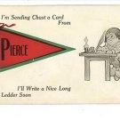 PIERCE IDAHO RED BANNER PENNANT FLAG DUTCH QUILL 1913