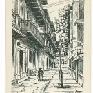NEW ORLEANS LA PIRATES ALLEY  L SARRAZIN POSTCARD