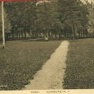 HAMBURG NEW YORK PARK PATH F.L. NORTON  POSTCARD