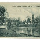 AMHERST MA  MASS MAC MEMORIAL  BUILDING 1930 POSTCARD