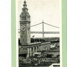 FERRY BUILDING SAN FRANCISCO CALIFORNIA CARS  POSTCARD