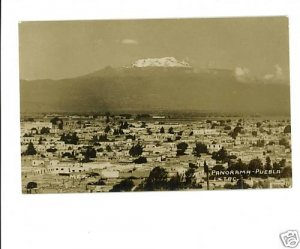 RPPC Puebla  Pue Mexico Panorama REAL PHOTO POSTCARD