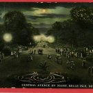 BELLE ISLE DETROIT MICHIGAN CENTRAL AVE 1911 POSTCARD
