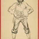 MARSHALL DAVIS SKETCH ARTIST SOLDIER UNIFORM  POSTCARD