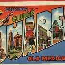 CIUDAD JUAREZ OLD MEXICO GREETINGS FROM POSTCARD