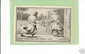 F BLUM ARTIST SIGNED MEAL TIME CHICKS 1910 POSTCARD