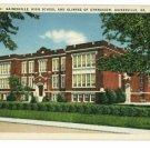 GAINESVILLE GA GEORGIA HIGH SCHOOL & GYM POSTCARD