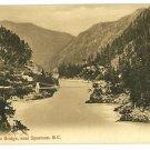 SPUZZUM CARIBOO BRIDGE BC CANADA 1909 POSTCARD