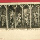 SEVEN VIRTUES OXFORD COLLEGE REYNOLDS GILES  POSTCARD
