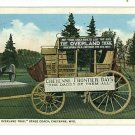 CHEYENNE WYOMING OVERLAND TRAIL STAGE COACH POSTCARD