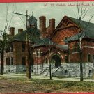 LANSING MICHIGAN CATHOLIC SCHOOL CHURCH 1910 POSTCARD