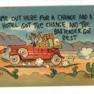 COMIC VACATION CHANGE & REST HILLBILLY LARRY POSTCARD