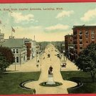 LANSING  MICHIGAN MICHIGAN AVENUE FROM CAPITOL POSTCARD