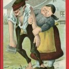 HEIMKEHR KIRCHWEIH DRUNK MAN WOMAN GES GERMAN POSTCARD