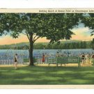 CHATAUQUA LAKE NY NEW YORK BEMUS PT BEACH '39  POSTCARD