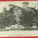 SALINE MICHIGAN  UNION SCHOOL  1909 WHEELER POSTCARD