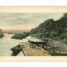 OHIO RIVER FROM PENNSYLVANIA LINES TRAINS  POSTCARD