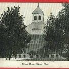 CHICAGO OHIO OH JUNCTION WILLARD SCHOOL HOUSE  POSTCARD
