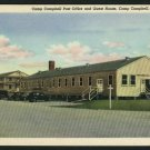 CAMP CAMPBELL KY KENTUCKY POST OFFICE OLD CARS POSTCARD