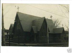 RPPC GENEVA OHIO OH EPISCOPAL CHURCH  1909 WRIGHT